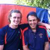 My grandfather and I tailgating Illini football