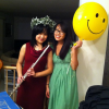 With my ever-awesome sister, Melissa, in the green dress :)