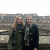 This is a picture of my friend and I (left) at the Colosseum in Rome.